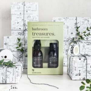Bathroom treasures (Skinwash lemongrass & after oil)